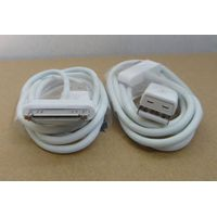 USB Sync Data Charging 30 Pin Charger Cable Cord Adapter For 3GS 4 4S 4G iPad 2 3 Piod Nano Touch