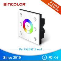 Bincolor P4 Touch panel led controller, 12v 24v 4 channels rgbw led light switch thumbnail image