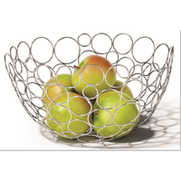 metal fruit basket holder in storage basket