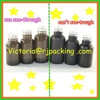 frosted glass bottle black color for essential oil