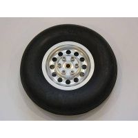 """4.5"""" Rubber tyres with CNC Alu hubs"""