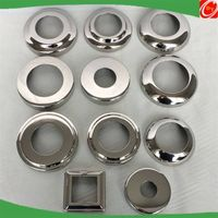 mirror finish stainless steel decorative cover for handrail railing stair fittings