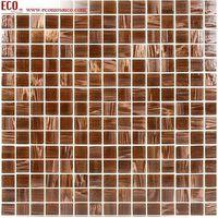 elegant golden line Crystal glass mosaic (swimming pool)