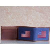 American Flag Needlepoint Full Wallet