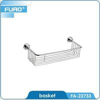 Wall mounted bathroom dual tier shower shelf