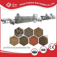dry floating fish food double screw extruder machine thumbnail image