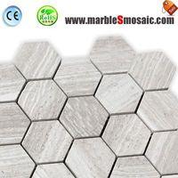 Athens White Hexagon Marble Mosaic