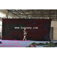 lightweight small volume and thin full color p100 RGB flex led curtain
