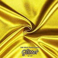 24K Gold  Plated Fabric with Nanocoating - Plain Silklike G-PL01