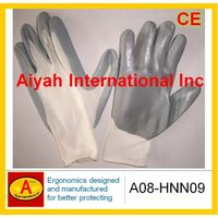 Nylon liner with Nitrile Plam Coated Safety Glove(A08-HNN09) thumbnail image