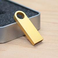 CaraUSB mini gold metal usb flash drives 8GB pendrive golden SE9 brand gifts thumbnail image