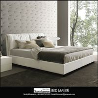 made in china wood frame structure italian leather bed frame modern beds