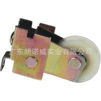 Single carbon sliding door roller with bearing for window rollers