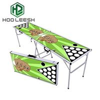 2 Sections Aluminum Folding Beer Pong Table