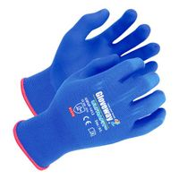 18 guage Blue Nylon/Spandex liner Blue SUPREMAX FOAM Nitrile palm coated gloves(GWUF-1412)