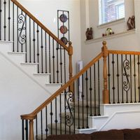 Wrought iron stair railing for home and garden indoor or outdoor usage