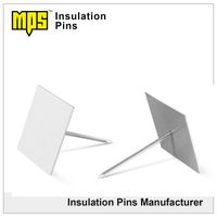 Galvanized steel base Aluminum pins self adhesive insulation pins