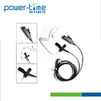 Professional surveillance 2 wire kits earpiece with medical grade acoustic tube for 2 way radio thumbnail image