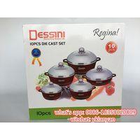Dessini 10pcs color pan set marble coating cookware set china factory thumbnail image