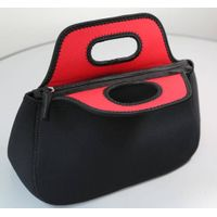 portable high quality insulated lunch bag with handle/fashion neoprene lunch tote bag