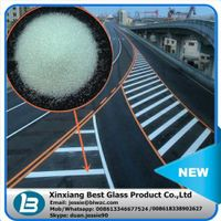 1.5 reflective index transparent roundness glass beads for road marking