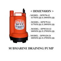 Submersible marine pump