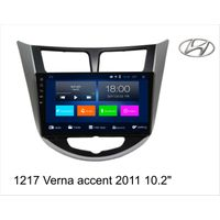 10.2'' Verna accent 2011 car GPS navigation, 4G Android system, BT/HD/FM/AM/TV