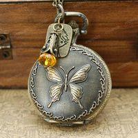 Retro locket pocket watch necklaces