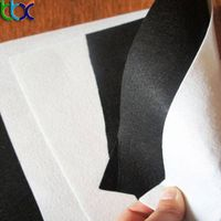 materials used for shoe making Grey white PK nonwoven fabric vamp lining fabric thumbnail image