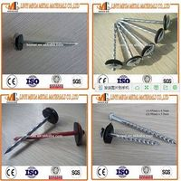 China Nails Factory Top Quality Screw Roofing Nails with Rubber Washer
