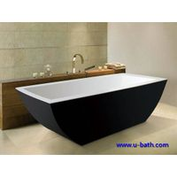 UB162 Black color modern bathtub for soaking