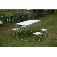 lightweight Outdoor aluminum Folding Camping Picnic Table