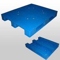 1200*1000*125 mm Stack-able plastic pallet with 6 runners bottom and open deck - See more at: http:/