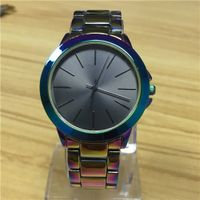 color plating tone alloy wrist watch