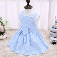 2017 Children Dress Kids Without Sleeve Fashion Kids Clothes Blue Dresses For Kids LSCG1702B