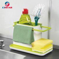 Draining Sink Tidy Sink Aid Organizer Brush Sponge Cleaning Holder Tidy Flower Type draining rack thumbnail image