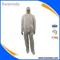 disposable polypropylene nonwoven coverall, polyethylene pp nonwoven coverall thumbnail image