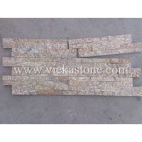 tiger skin yellow spot quartzite stacked stone wall panel