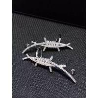 Neffly Top Grade Fashion Stud Earrings Hot Sale 925 Silver Earring for Women Girl thumbnail image