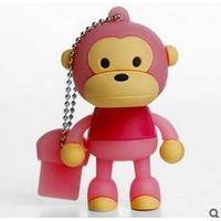 Silicon cartoon monkey USB Flash drive sticks cute promotional gifts