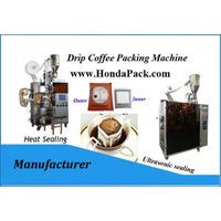 Single serve drip coffee filter bags packaging machine