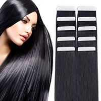 "14"" Tape in Hair Extensions Remy Human Hair Seamless Glue in Tape Hair Extension 20pc 40g/pack Off B"