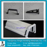 White durable cheap PVC Rain Gutters