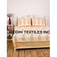 Block Print Bed Cover