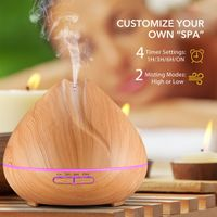 400ml New Aromatherapy Wood Grain Ultrasonic Electric Aroma Diffuser