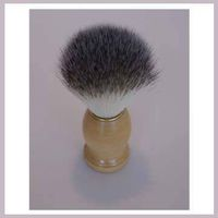 Shaving brush with natural hair