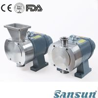 Stainless steel 316L food transfer rotary lobe pump high viscosity pump for Chocolate thumbnail image