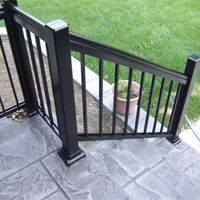 Aluminum stair railing for home and garden outdoor or indoor usage