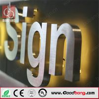 High quality thin light store advertising light letter for wholesal,standard custom export