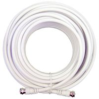 white coaxial cable rg59 with two silver f connectors